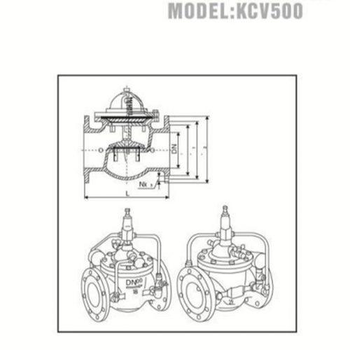 Bản vẽ kỹ thuật van an toàn YDK KCV500