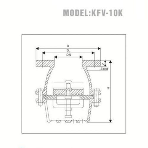 Bảng vẽ kỹ thuật rọ bơm MB YDK KFV-10K nhập khẩu Hàn Quốc